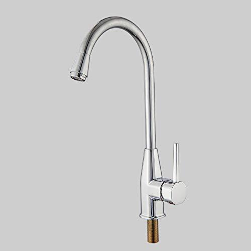 360 ° drehbarer Küchenarmatur, Einhand-Kupferkern-Küchenarmatur mit kaltem Spülbecken, Waschtisch-Einbaubecken-Wasserhahn