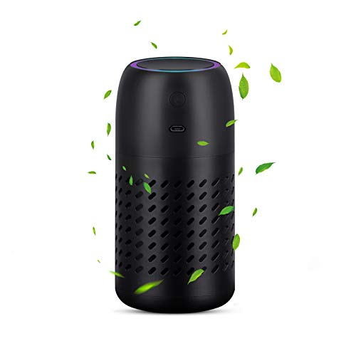 Car Air Purifier with Replaceable Filter Element, Personal Air Purifier with USB Charger Portable Air Purifiers for Bedroom Office Kitchen