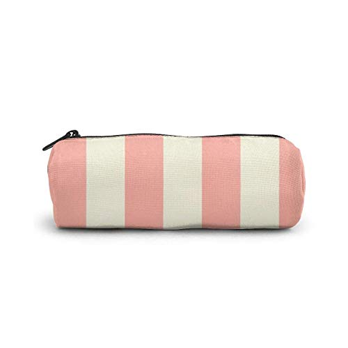 Pink Lip Pencil Case Cylinder Shape Pen Stationery Pouch Bag Zippers Pen Bag Office Stationery Bag Cosmetic Makeup Bag Toiletry Bag Cylinder Women Cosmetic Bag
