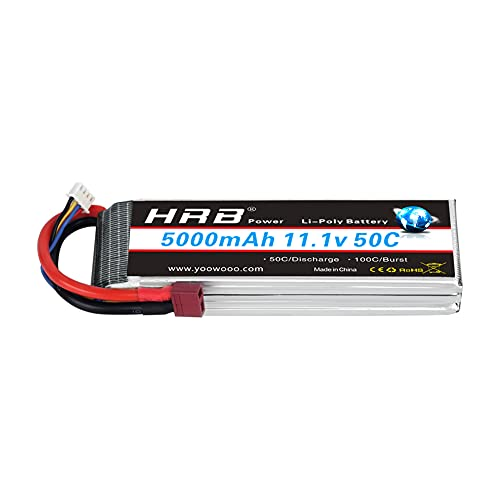 HRB 5000mAh 3S 11.1V 50C Lipo Battery with Deans T Plug for DJI F450 Quadcopter Airplane Helicopter Car Truck Boat Hobby