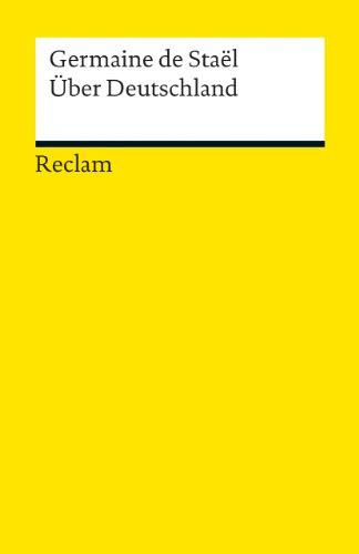 Über Deutschland (Reclams Universal-Bibliothek)