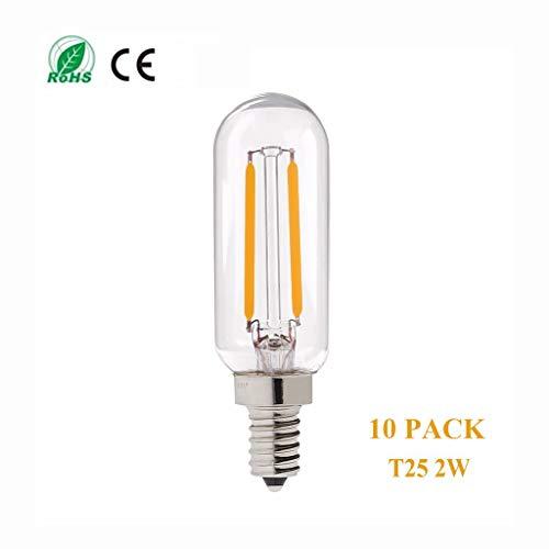 Ledlamp 10 stuks T25 lichtbron, 2 beugels / 4 W LED filament E12 / E14 lamp, vervanging Home Decor wandlamp