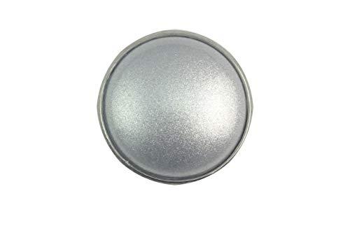 Magnetbrosche, Clip, Schmuckanhänger aus Edelstahl, 20mm, handgefertigt, einfarbig silber