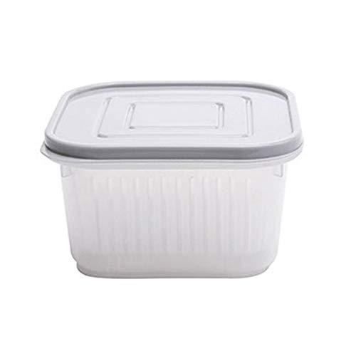 QFDM Lagerflasche 2 STÜCK Square Drain Seeged Box Kühlschrank Crispe Debris Kühlschrank Aufbewahrungsbox Knoblauchzwiebel Lebensmittelbehälter Haushalt Flaschen, Gläser & Boxen