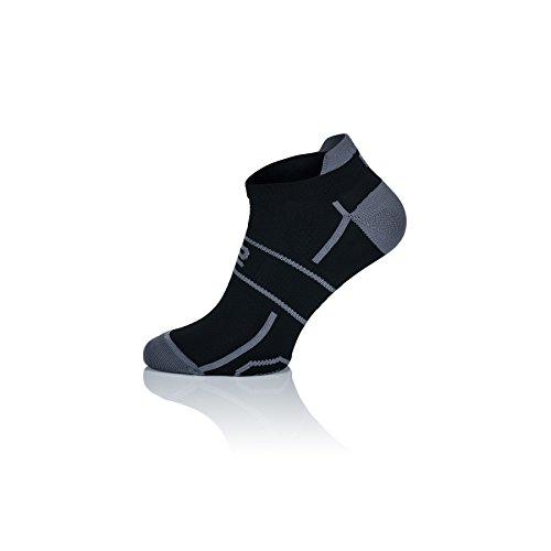 Chaussettes de sport Prosske LF-1 - Respirantes - Pour homme et femme - Plusieurs couleurs - Noir/gris - Taille 44-46