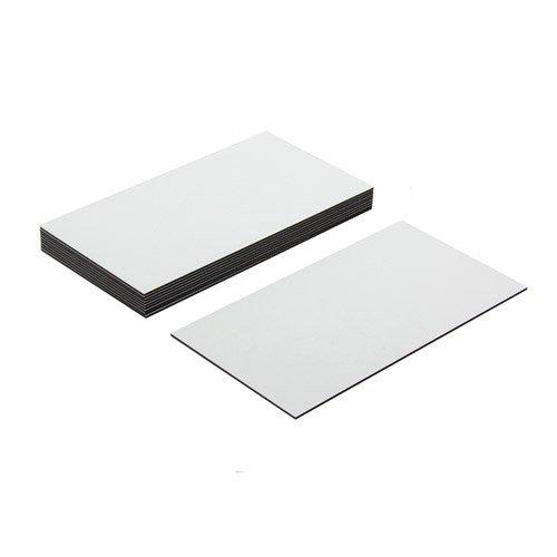 first4magnets™ Flexible magnetische Etiketten mit glänzend weiß trocken wischen Oberfläche (89 x 51 x 0,76 mm) (Packung mit 10), Metall, Silver, 25 x 10 x 3 cm, Einheiten