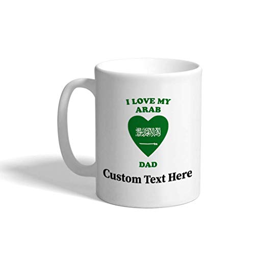 Colored Handle Coffee Mug Love you to the jersey short and back Ceramic Tea Cup, 11 OZ - Yellow Inner/Handle