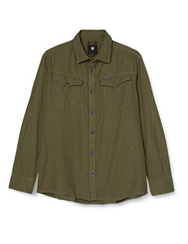 G-STAR RAW Arc 3D Slim Jeans Maglietta in Denim, Verde (Sage 7647-724), Large Uomo