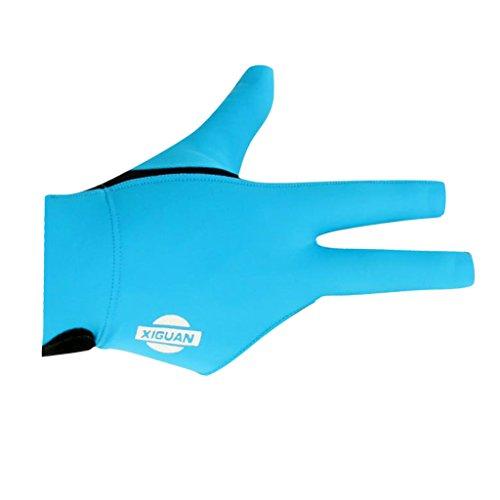Sharplace Billard Handschuh 3 Finger Pool Billiard Glove für Rechts Hand - Blau