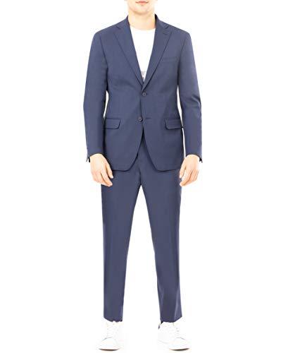 DKNY Men's Regular Active Tailored Suit, Navy, 42R