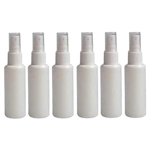 6pcs 50ml 1.7oz blanc bouteille de pulvérisateur en plastique avec couvercle portable gouttes pour les yeux maquillage eau hydratant atomiseur pot support de flacon cosmétique contenant