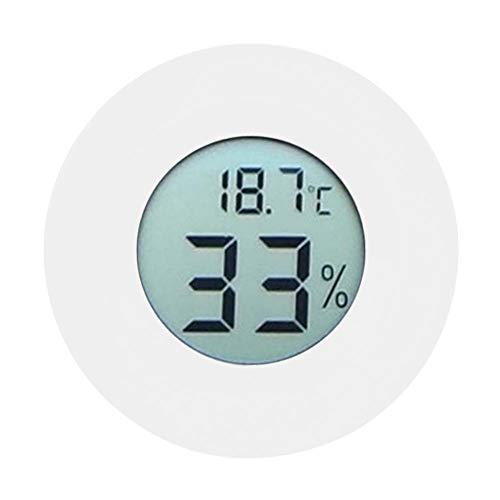 Mini Termómetro Higrómetro Medidor de Temperatura y Humedad Medidor Monitor Interior Pantalla LCD Digital Incorporada Circular...