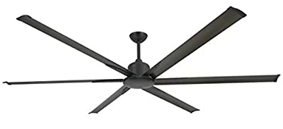 """TroposAir Titan II Oil Rubbed Bronze 84"""" Large Industrial Ceiling Fan with DC-Motor, Extruded Aluminum Blades and Remote"""