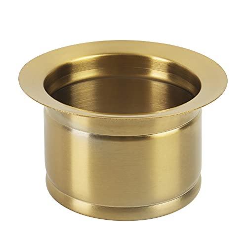 LQS Extended Sink Flange, Deep Garbage Disposal Sink Flange for Kitchen Sink, Fit for 3-1/2 Inch Standard Sink Drain Hole, Golden Deep Sink Flange