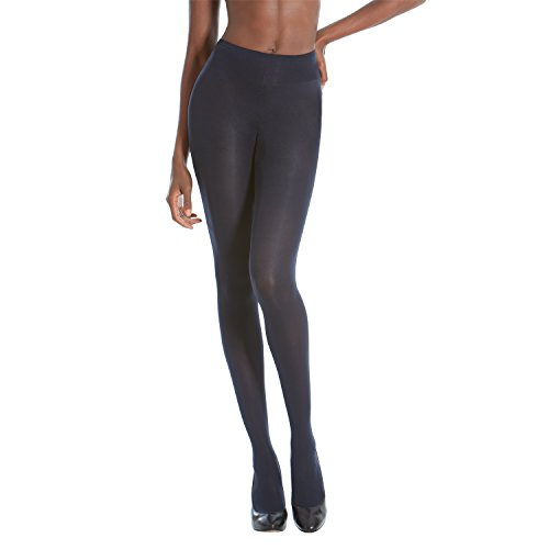 Gold Toe Women's Sheer to Waist Semi Opaque Perfect Fit Tights, 1 Pair, Navy, C