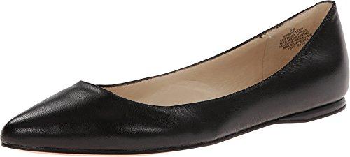 NINE WEST Speakup Flat Black Leather 8 W