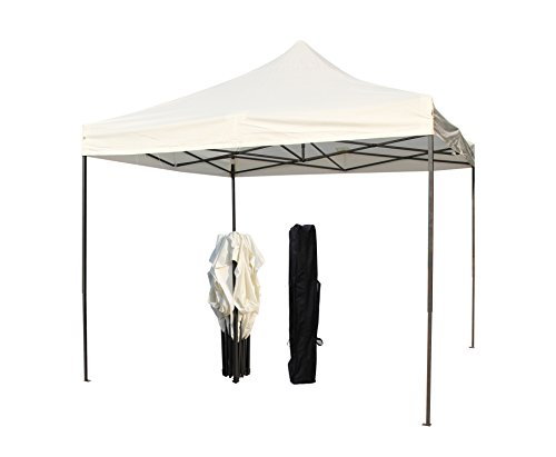 All Seasons Gazebos, 3x3m Heavy Duty, Fully Waterproof, PVC Coated, Premium Pop up Gazebo, Comes with Carry Bag With Wheels and 4 x Leg Weight Bags (Cream)