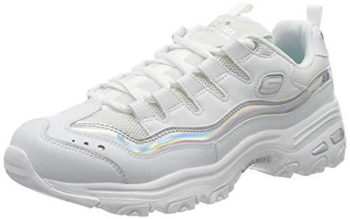 Skechers D'Lites 13160-wsl, Scarpe da Ginnastica Basse Donna, White, 39 EU
