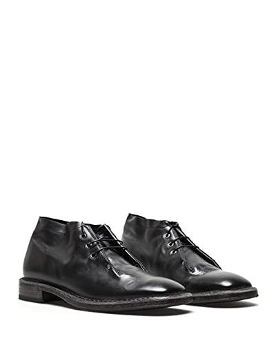moma scarpe MOMA Scarpe Stivaletti Uomo 2BW039 Vitello Nero Pelle