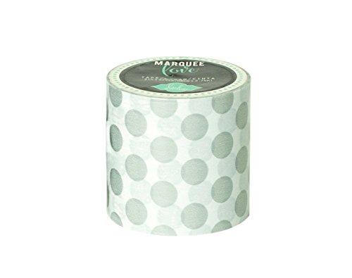 Heidi Swapp Marquee Washi Tape - Silberfolie, Punkte - 5.1 cm x 2.74 m, Japanese Papier, Silber, 2 x 2 x 2 cm