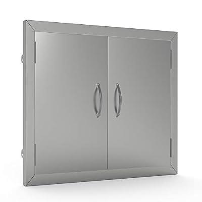 Nurxiovo 24x24 in Access Door Stainless Steel Outdoor Kitchen Doors for Commercial BBQ Island Outdoor Kitchen Grilling Station