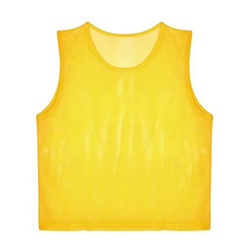 Vbest life Paquete de 12 Chalecos de fútbol de Malla Scrimmage, Camisetas de Entrenamiento de fútbol Transpirables, Camisetas para Adultos, Baberos