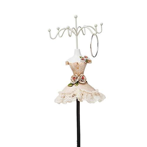 N/V Collar modelo de soporte para pendientes de exhibición de soporte giratorio de joyería de pie europeo decoración del hogar manualidades de resina