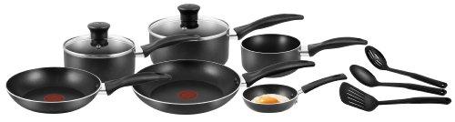 Tefal A762S944 Easycare 9-Piece Cookware Set , Black