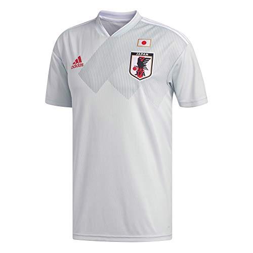 adidas - Camiseta de fútbol Unisex para niños, réplica de Japón, Unisex niños, Camiseta de Visita, BR3620, Gris y Blanco, 128.0