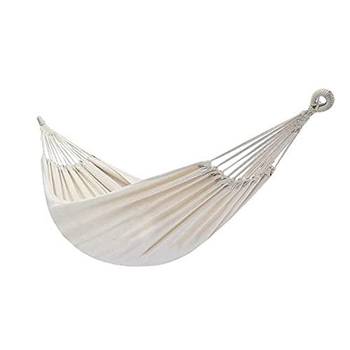 ZJSXIA Hamaca de algodón Cuerda Natural 200 * 150cm Hamaca portátil Acampar al Aire Libre o Jardines y Viajar-a Hamaca Colgante (Color : A)