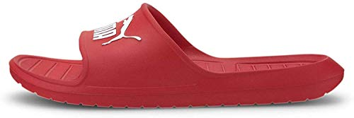 PUMA Divecat Slide Sandal, Negro, Rojo, Blanco (High Risk Red/White), 6 US