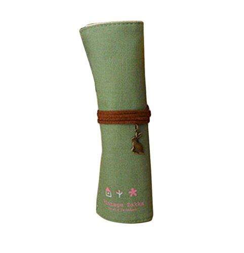 Dosige 1 stuks Zuid-Korea retro potloodzakje van linnen, creatief, eenvoudig, schrijfwaren, 20 x 25 cm 20 * 25cm Celeste Y Blanco