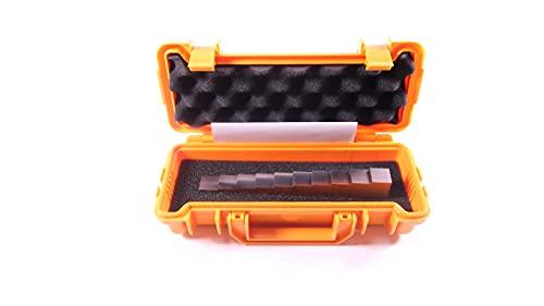 10 단계 UT 블록 0.1-1 1018 강철 테스트 블록 초음파 두께 게이지에 대한 단계 웨지 교정 블록 ABS 운반 케이스 및 인증서