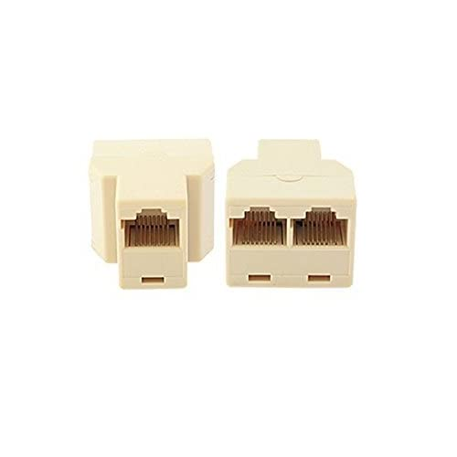 2Pack Ethernet Splitter RJ45 Adaptor PC Connector Network LAN Plug Cat5 6