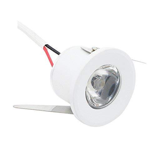 Mini Foco Empotrado LED Mini Foco Empotrado 1W Lámpara LED para gabinete, Armario, luz de Techo para el hogar, luz de Sala de exposición, Blanco Neutro 1.2'(D)