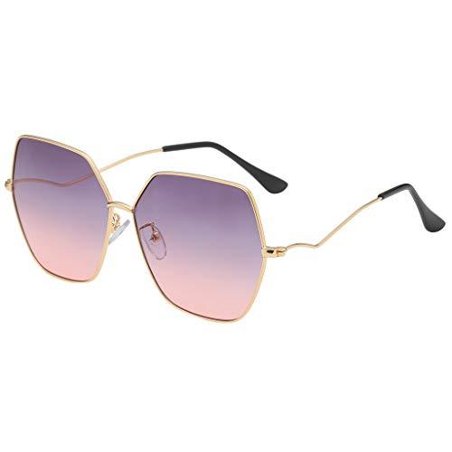ReooLy💕Mode Mann Frauen unregelmäßige Form Sonnenbrille Brille Vintage Retro Style