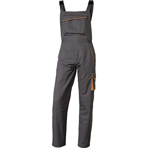 Delta Plus M6SALGR3X Panostyle werkbroek van polyester katoen, XX-Large, grijs-oranje, 1
