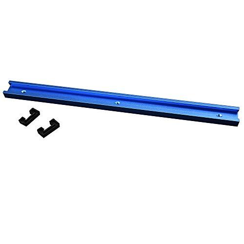 Laecabv 30 Tipo 400 mm T-Track Miter Track, guía de inglete de aleación de aluminio T Track Miter Track Jig Fixture ranura para sierra de mesa Router mesa herramienta de carpintería