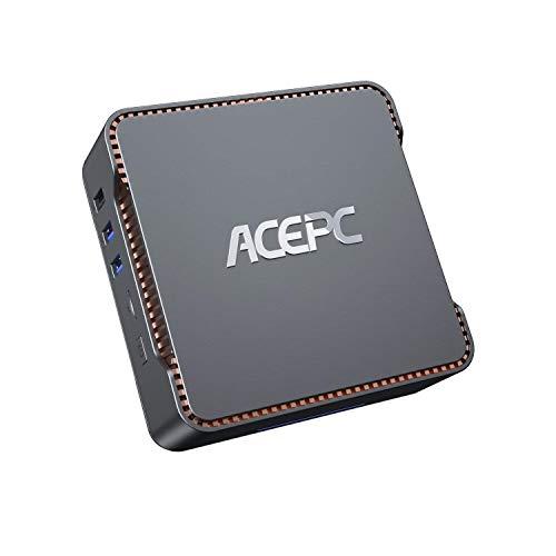 AK3 Mini PC, ACEPC Windows 10 Pro 6GB DDR4 120GB eMMC Intel Celeron Processor J4125 4 Cores Micro Mini Computer