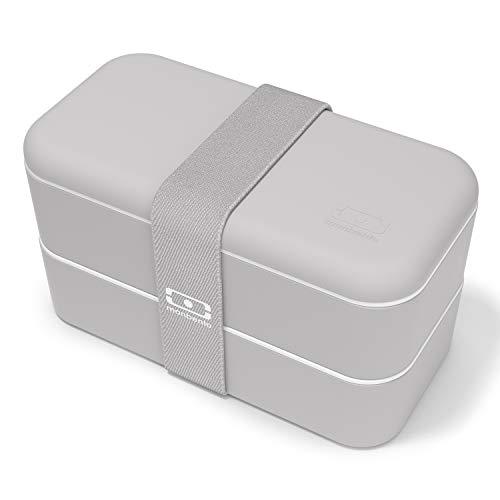 monbento - MB Original Fiambrera Lunch Box Made in France - Bento Box con 2 Compartimientos Herméticos - Fiambrera Trabajo/Escuela - sin BPA - Segura y Duradera