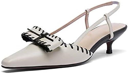 HommesGLTX HommesGLTX HommesGLTX Talon Aiguille Talons Hauts Sandales 2019 Nouvelle Arrivée Femmes Sandales Chaussures en Cuir Véritable Bowknot Slip en été Talons Aiguilles Chaussures De Mariage Chaussures a16