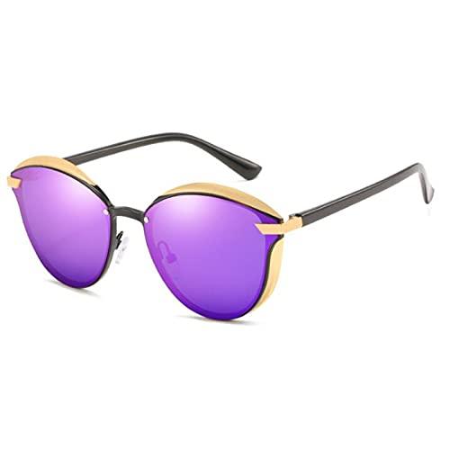JSJE Pequeñas Gafas de Sol polarizadas Redondas UV400 Protectores HD Lentes, Marco de Metal, Resistencia a la caída, Hombres y Mujeres Resistentes al Desgaste adecuados p AR