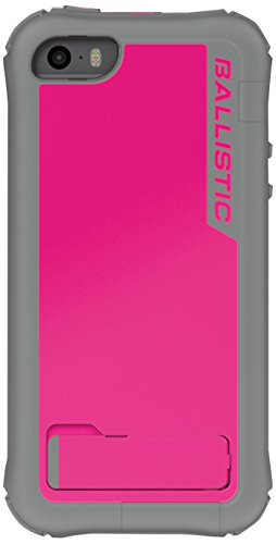 Ballistic Every1 Series Case for iPhone 5/5s - Retail Packaging - Raspberry Pink/Charcoal Gray