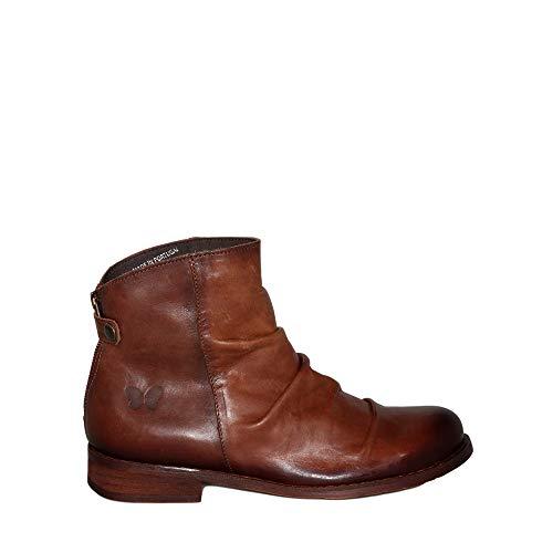 Felmini - Damen Schuhe - Verlieben BEJA B137 - Reißverschluss Stiefeletten - Echtes Leder - Braun - 37 EU Size