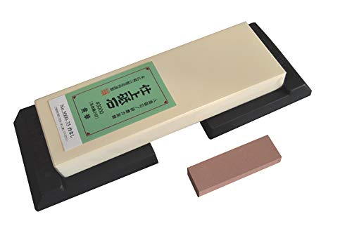 Suehiro - Kit de afilar piedra de afilar (grano #3000 y soporte de goma)