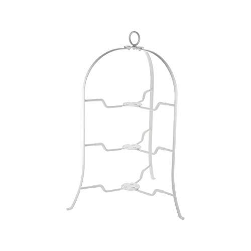CASUAL PRODUCT ボブスタイル プレートスタンド 3段 WH 直径18~24cmのお皿が使える スペース有効活用 折りたたみ式 収納に便利 アフタヌーンティー