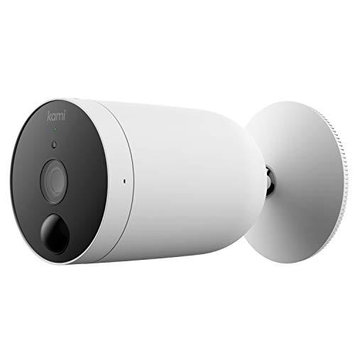 Kami 1080p Wireless Outdoor Überwachungskamera von YI Technology, IP65 wasserdicht True Wireless Wi-Fi IP Sicherheitskamera mit wiederaufladbarer Batterie, unterstützt Cloud und MicroSD-Karte Speicher