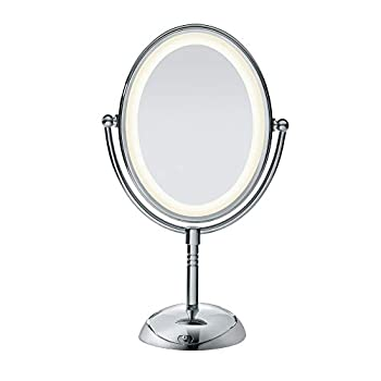 Conair Reflections Double-Sided LED Lighted Vanity Makeup Mirror 1x/7x magnification Polished Chrome finish