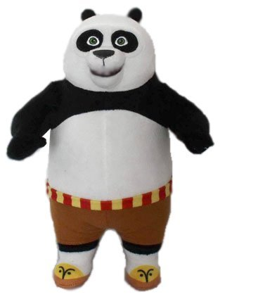 KUNG FU PANDA - Peluche di carattere Panda ragazzo 'Po' (11'/28cm) del film 'KUNG FU PANDA 3' 2016 - Qualità Super Soft