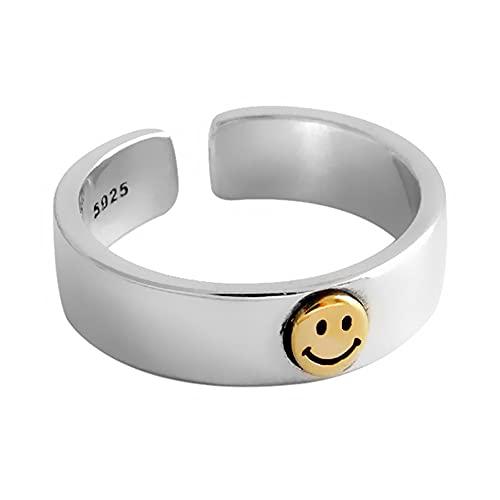 Anillo Smile Ajustable para mujer. Anillo Cara Sonriente, regalo Original y Creativo con caja de 24 Joyas